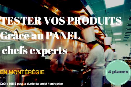 Testez vos produits avec le Panel chefs experts